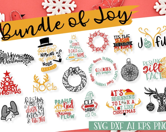 BUNDLE, Christmas, Best Sellers, SVG, Cutting File, Cricut, Silhouette, Download, Holiday, Winter, Santa, Reindeer, Snowman, DXF, Ai, png