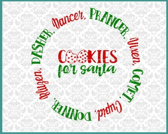 Cookies For Santa Svg, The Giving Plate Svg, Christmas Svg, Christmas Plate Svg, Reindeer Names Svg, Santa Cookie Plate Svg, Plate Svgs