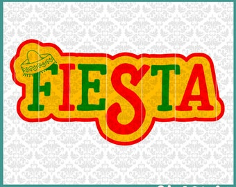 CLN0411 Fiesta Spanish Cinco De Mayo Mexican Day Party SVG DXF Ai Eps PNG Vector Instant Download Commercial Cut File Cricut Silhouette