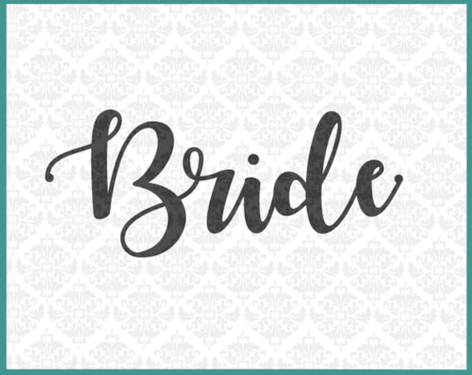 CLN0220 Bride Bridal Party Shirt Married Wedding Bachelorette SVG DXF Ai Eps PNG Vector Instant Download Commercial Use Cricut Silhouette