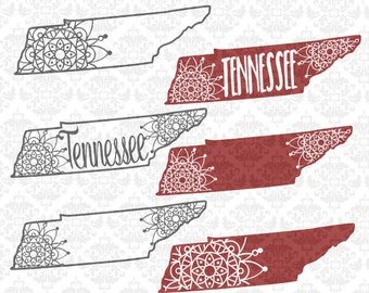 Bundle! Tennessee Mandala Filigree Henna Paisley SVG DXF Ai Eps PNG Scalable Vector Instant Download Commercial cut file Cricut Silhouette