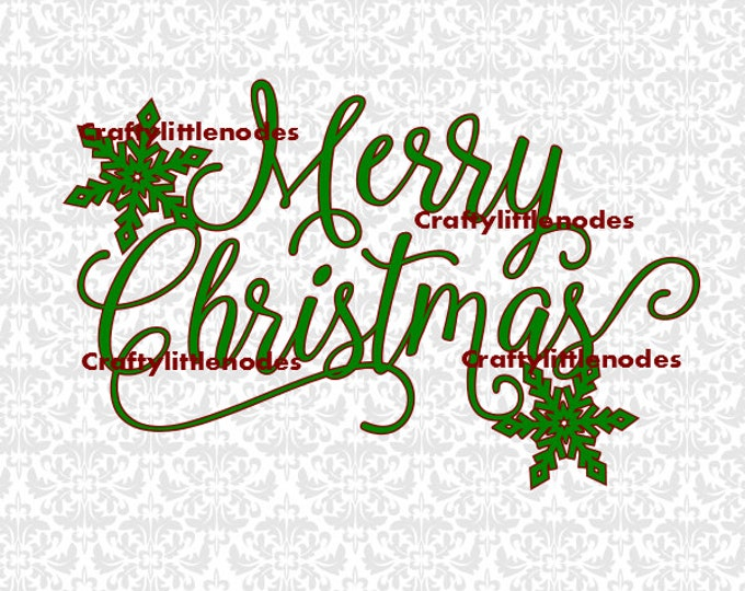 Merry Christmas Snowflake SVG file Ai EPS Scalable Vector Instant Download Commercial use Cutting File Cricut Silhouette