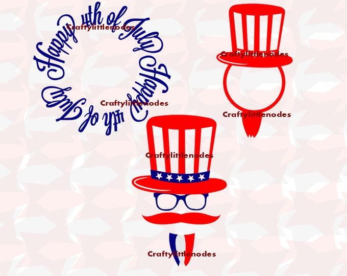 Uncle Sam Patriotic Set 4th Of July SVG STUDIO Ai EPS Scalable Vector Instant Download Commercial Use Cutting File Cricut Silhouette Cameo