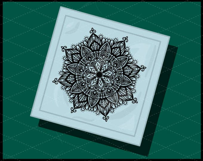 CLN0734B Mandala Hand Drawn Intricate Lace Design Boho Sign SVG DXF Ai Eps PNG Vector Instant Download COmmercial Cut File Cricut Silhouette