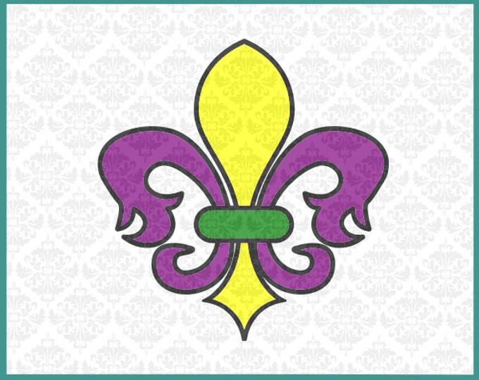 Fluer De Lis SVG, Flower Of The Lilly Svg, Mardi Gras Svg, Mardi Gras Shirt Svg, Fluer Svg, Cricut Files, Silhouette cut Files, Cut Files,