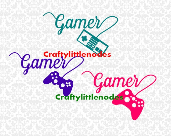 Gamer Controller SVG file Ai EPS Scalable Vector Instant Download Cutting File Commercial Use Cricut Explore Air Silhouette Cameo Curio