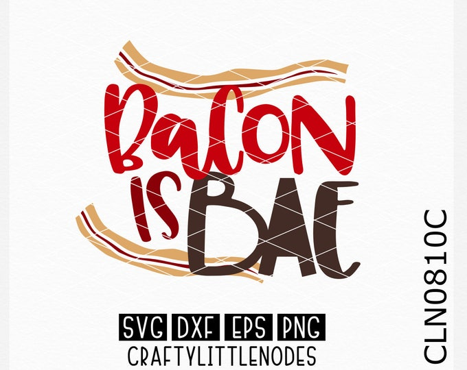 CLN0810C Bacon is Bae Lover Anti Valentines Foodie Funny Shirt SVG DXF Ai Eps PNG instant download commercial cut files cricut silhouette