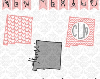 New Mexico Svg, Mexico SVG, New Mexico DXF, New Mexico Vector, New Mexico State SVG, state svgs, state outline svgs, state chevron svgs,