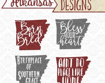 Arkansas svg, Born and Bred svg, Southern Svg, Arkansas State Svg, Arkansas state svg, Arkansas State shirt svg, Cricut, Silhouette, files