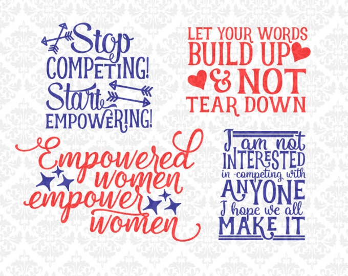 Stop Competing! Start Empowering! SVG DXF file ai eps png Scalable Vector Instant Download Commercial Use Cutting File Silhouette Cricut