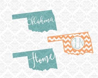 Oklahoma Svg, Oklahoma State svg, Oklahoma Monogram svg, Oklahoma Home svg, Oklahoma Love Svg, Oklahoma Patterned Svg, Cricut, Silhouette