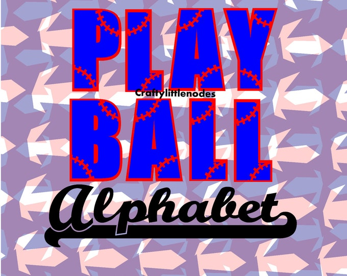 Play Ball Baseball Softball SVG file Ai EPS  Scalable Vector Instant Download Cutting FIle Cricut Explore Silhouette Cameo Commercial Use