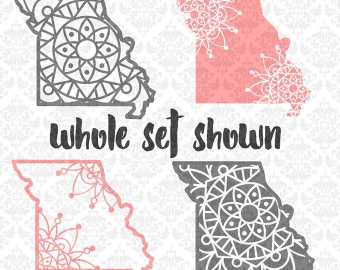 Missouri Filigree Paisley Henna Zentangle Lace SVG DXF Ai Eps Scalable Vector Instant Download Commercial Use Cutting File Cricut Silhouette