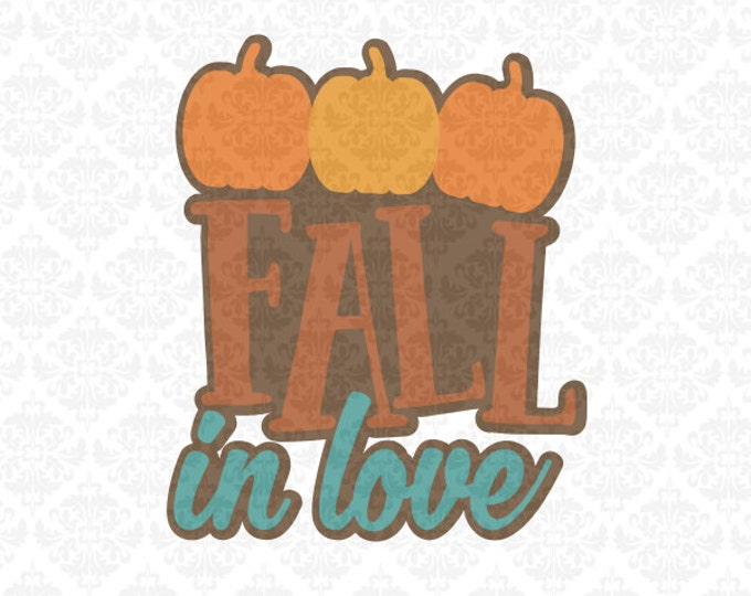 Give Thanks Harvest Time Hello Autumn Fall In Love Pumpkins SVG DXF Ai Eps PNG Vector Instant Download Commercial Cut File Cricut Silhouette