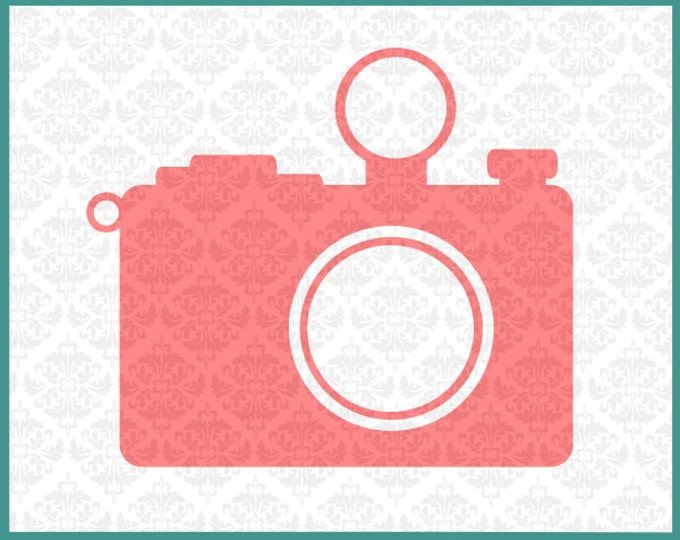 CLN094 Camera Plain Monogram Photography Photographer SVG DXF Ai Eps PNG Vector Instant Download Commercial Cut File Cricut Silhouette