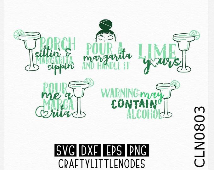 CLN0803 Margarita Design Bundle Limes Alcohol Shirt SVG DXF Ai Eps PNG Vector Instant Download Commercial Cut File Cricut Silhouette