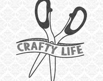 Crafty Life Don't Touch My Scissors Seamstress Handmade SVG DXF Ai Eps PNG Vector Instant Download Commercial Cut File Cricut SIlhouette