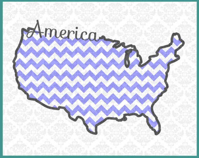 CLN0108 America American USA United States 4th of July Day SVG DXF Ai Eps Png Vector Instant Download Commercial Cut File Cricut Silhouette