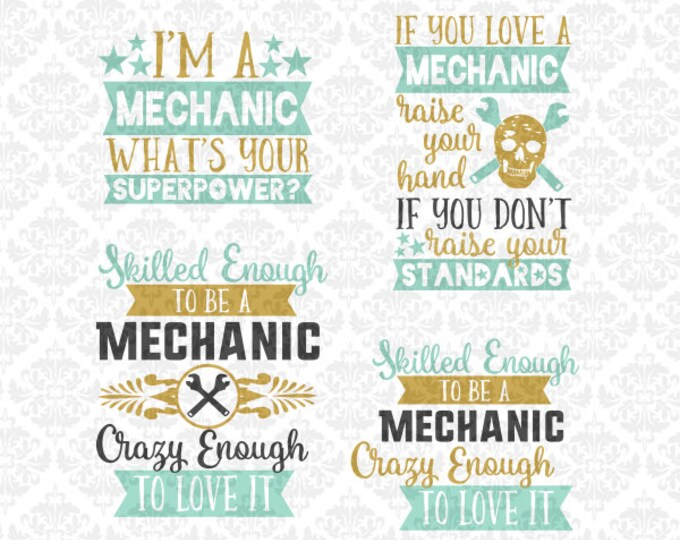 Mechanic Superpower Love Wife wrench SVG DXF file Ai Eps Scalable Vector Instant Download Commercial Use Cutting File Cricut Silhouette