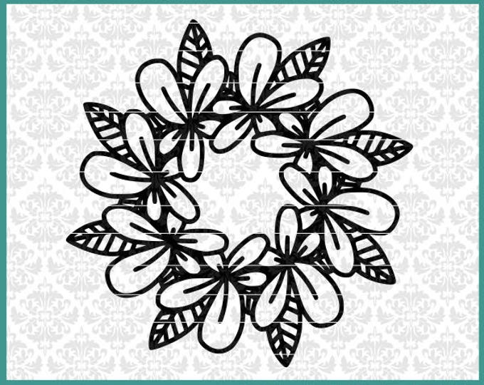 CLN0579 Hawaiian Flower Summer Mandala Monogram Beach Life SVG DXF Ai Eps PNG Vector Instant Download Commercial Cut FIle Cricut Silhouette
