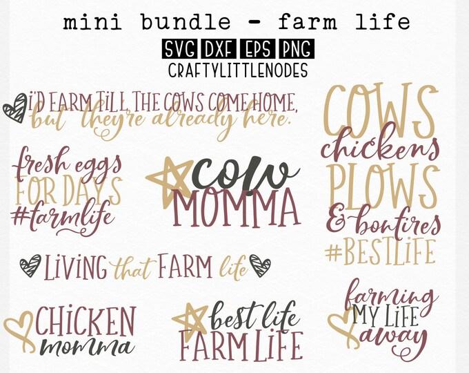 BUNDLE, Farm Life, SVG, Sign, Primitive, Farmer, Farm Wife, Dxf, PNG, Farming, Set, Cricut, Silhouette, Cutting File, Commercial Use, design