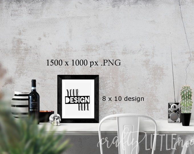 Mockup Mock Up 8x10 8 by 10 Stylized Photography SVG Blank Printable PNG Garden Boho Desk Wall Chair Wine Blanks Commercial Use Photo