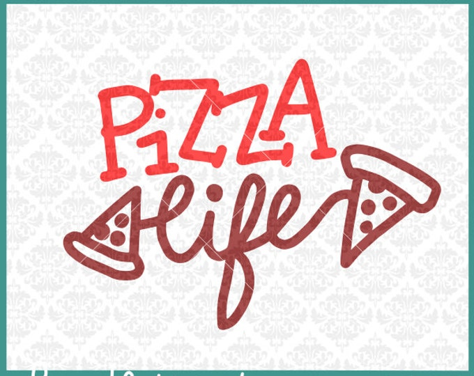 CLN302 Pizza Life Server Delivery Driver Funny Single Teens SVG DXF Ai Eps PNG Vector Instant Download Commercial Cut File Cricut Silhouette
