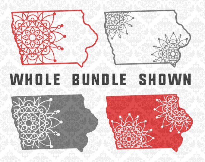 Iowa Mandala Svg, Iowa zentangle svg, Iowa state svg, Iowa svg, Iowa Outline svg, Iowa shirt svg, Iowa svgs, Silhouette, Cricut, Cut Files
