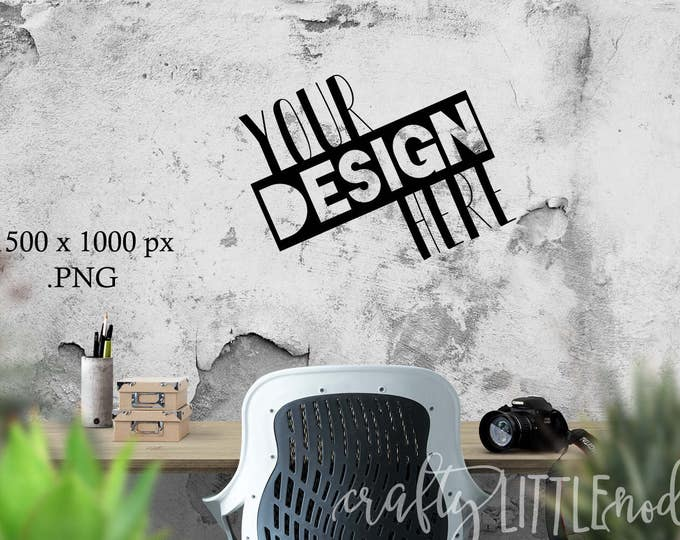 DIGITAL MOCKUP Blank Wall Decal Styled Stock Photo Photography Camera Art Printable Blanks Empty PNG Transparent Picture Desk Stylized