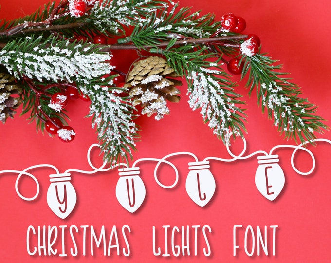 Christmas, Font, Yule, Lights, OTF, TTF, Woff, Personalize, Type, Winter, Snowflake, Dingbat, Ornament, Symbols, Holiday, Commercial Use