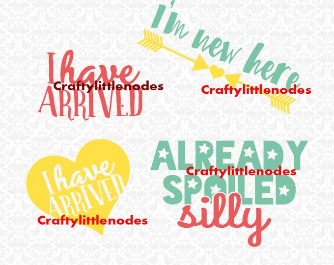 Already spoiled Silly I have arrived I'm new here SVG STUDIO Ai EPS  Instant Download Commercial use Cutting File Cricut Silhouette