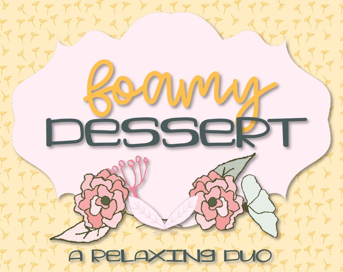 Foamy Dessert - A Yummy Font Duo - Script Cursive Font with Print Display Font - Cricut Silhouette Cutting Machine Font - Font Pair - Duo