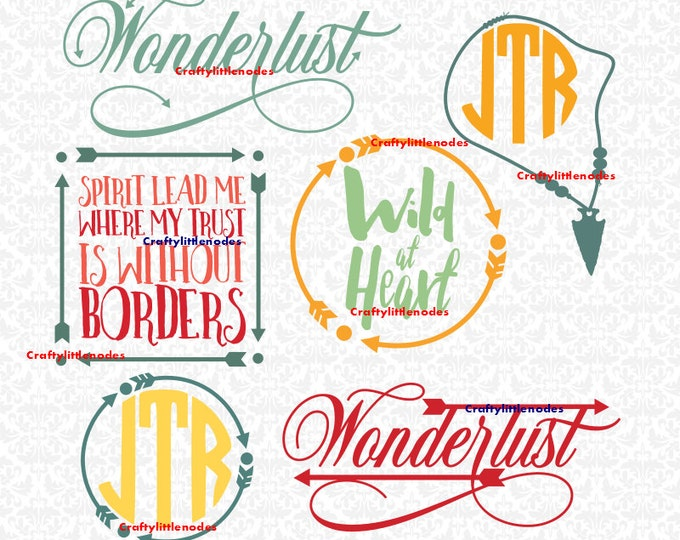 Wild At Heart Spirit Lead Me Wonderlust SVG file Ai EPS Scalable Vector Instant Download Commercial Use Cutting File Cricut Silhouette