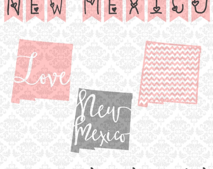 New Mexico Chevron Home Outline Love SVG DXF STUDIO Ai Eps Scalable Vector Instant Download Commercial Use Cutting File Cricut Silhouette
