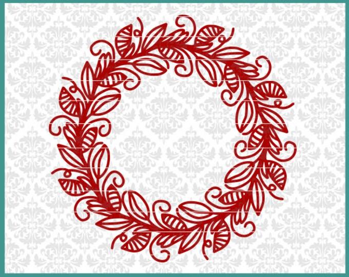 CLN0543 Mandala Flower Floral Hand Drawn FLowery Monogram SVG DXF Ai Eps PNG Vector INstant Download Commercial Cut File Cricut SIlhouette