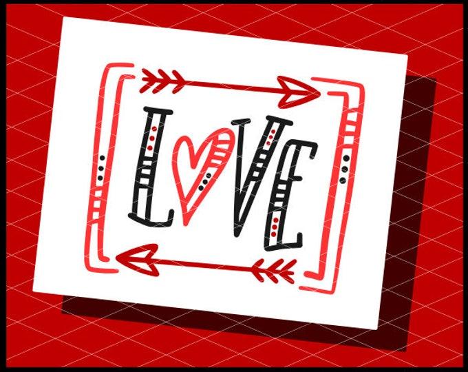 Love Svg, Love Drawing Svg, Valentines Svg, Valentine's Svg, Svg Files, Cricut Files, Hand Lettered Svg, Hearts Svg, Valentines Shirt Svg,