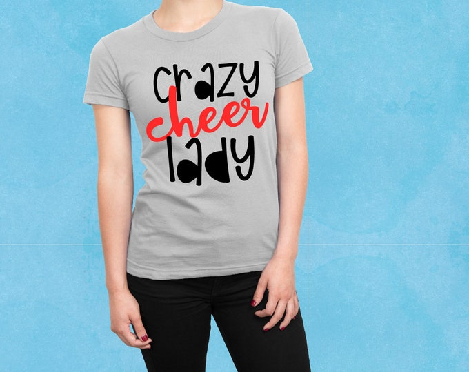 Crazy Cheer Lady, Cheer, Cheerleader, Svg, Cricut, Silhouette, Cutting File, Cheer shirt, Set, Collection, Sale, Cheap, Clearance, Download