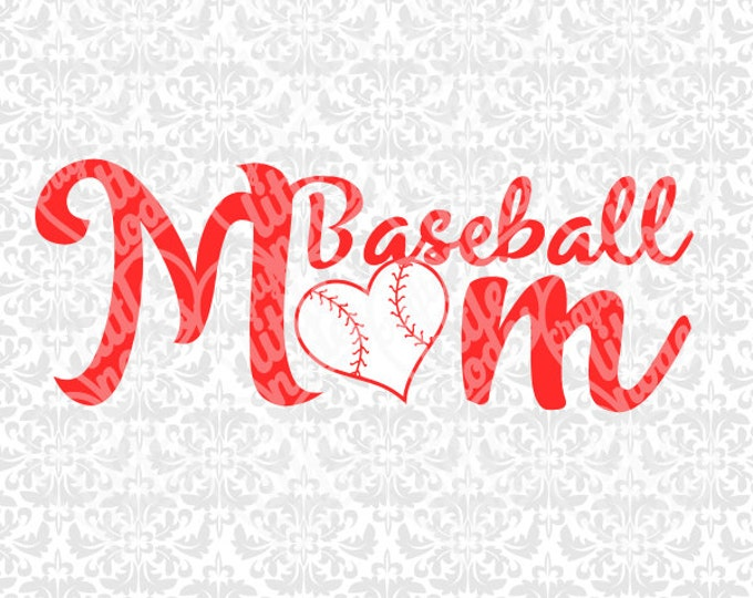 Mom Sports Pack / Basketball / Volleyball / Football / Baseball Heart SVG STUDIO Ai EPS instant download commercial cutting file silhouette