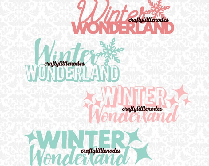 Winter Wonderland Christmas SVG file Ai EPS Scalable Vector Instant Download Commercial Use Cutting FIle Cricut Silhouette