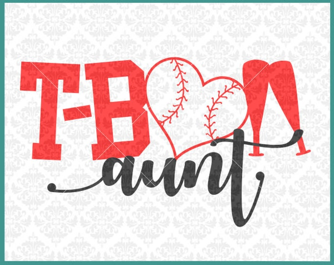 CLN0383 T-ball TeeBall Aunt Uncle Sister Brother Family SVG DXF Ai Eps PNG Vector Instant Download COmmercial Cut File Cricut SIlhouette