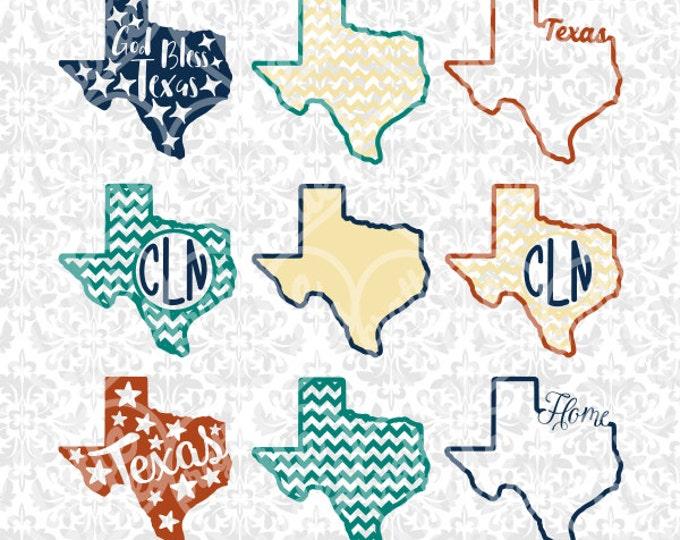 Texas State Shape Monogram Chevron Outline SVG STUDIO Ai EPS scalable vector instant download commercial use cricut silhouette