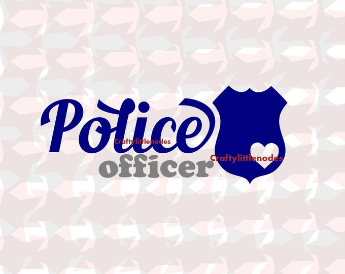 Police Officer Wifey Badge SVG file EPS Ai Scalable Vector Instant Download Commercial Use Cutting File Silhouette Cameo Cricut Explore