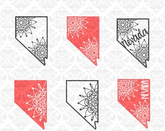 Nevada Mandala Lace Filigree Zentangle Henna Boho Svg Dxf Ai Eps PNG Scalable Vector Instant Download Commercial Cut File Cricut Silhouette
