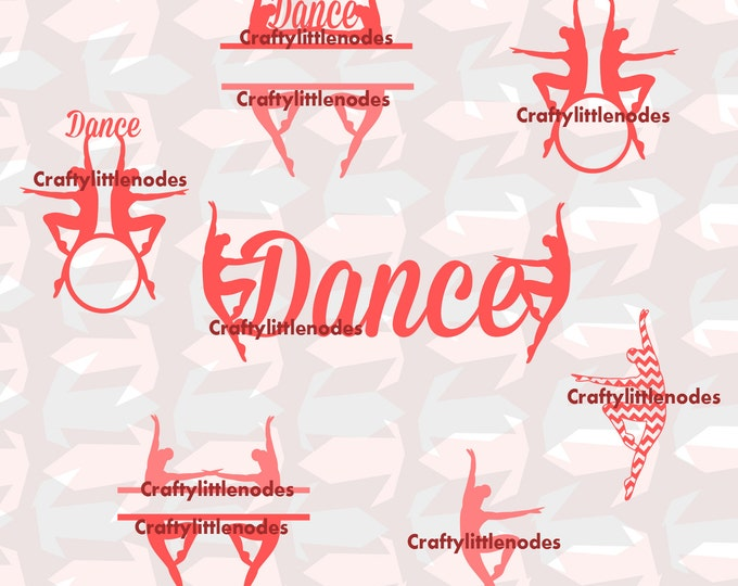Dancing SVG file Ai EPS  Cutting Files for cut machines silhouette cricut dancing monograms for circle alphabet Ballet Commercial Use