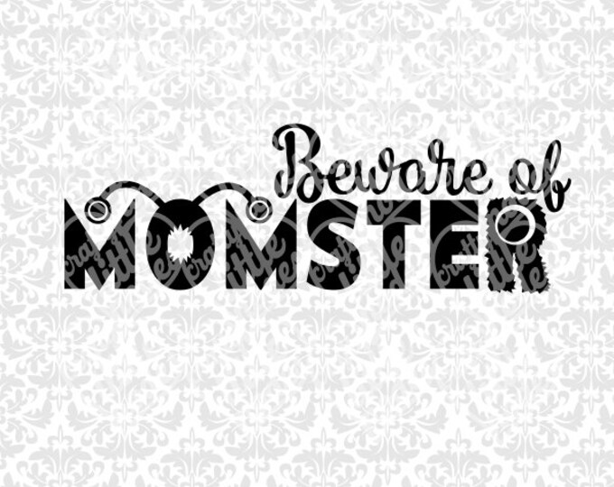Momster Monster Mom Momma Coffee SEt SVG file Ai EPS Scalable Vector INstant Download Commercial Use Cutting File Cricut Silhouette