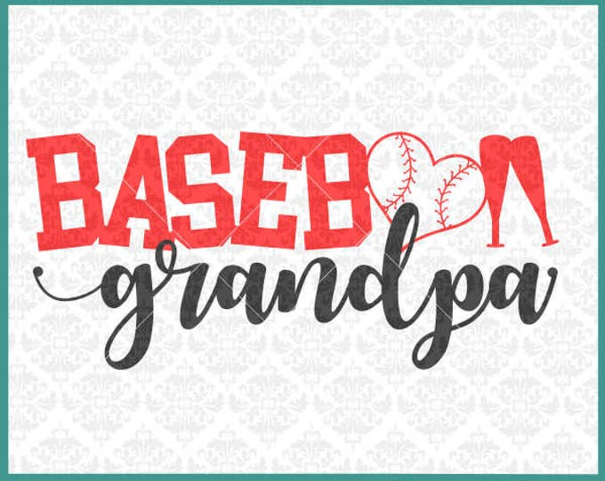 CLN0341 Baseball Grandpa PePaw PawPaw Family Parents Shirt SVG DXF Ai Eps PNG Vector INstant Download Commercial Cut File Cricut Silhouette