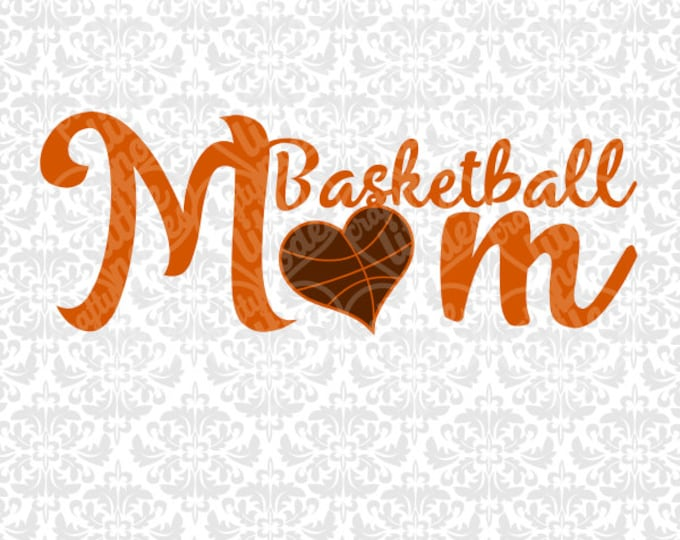 Mom Sports Pack / Basketball / Volleyball / Football / Baseball Heart SVG file Ai EPS instant download commercial cutting file silhouette