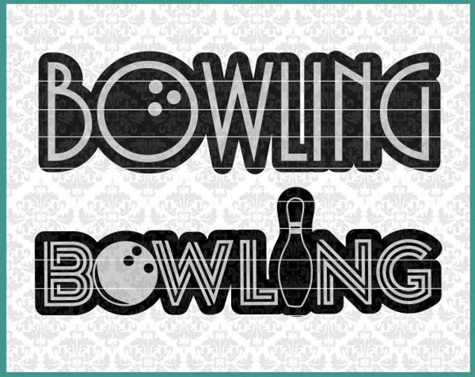 CLN0522 Bowling Bowler Bowl League Spare Strike Turkey Pins SVG DXF Ai Eps PNG Vector Instant Download Commercial Cut File Cricut Silhouette