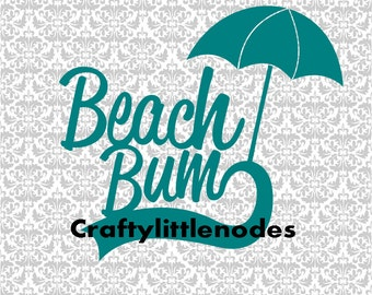 Beach Bum SVG STUDIO Ai EPS Summer Scalable Vector Cutting File Commercial Use Instant Download Cricut Explore Silhouette die cutters