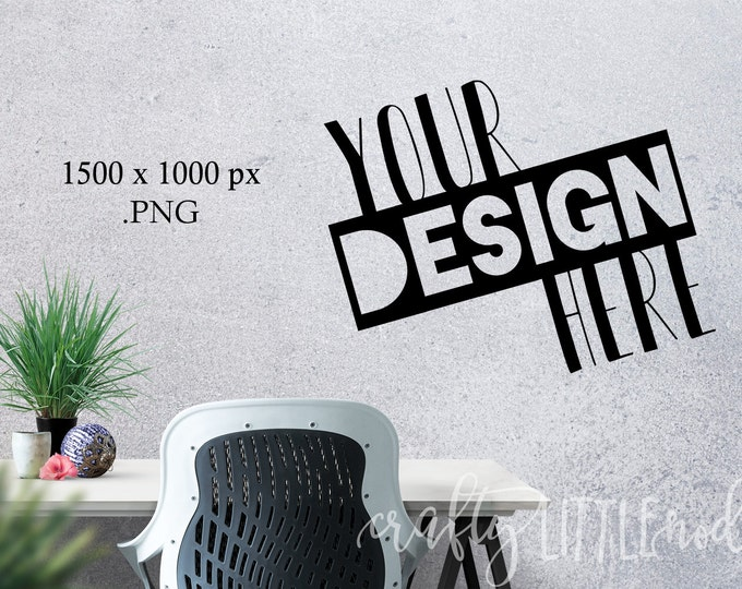 MOCKUP Blank Wall Stylized Concrete Modern Decal Photo Picture Mock Up Mockups PNG Golden Bowl Frame Blank Stylized Commercial SVG blanks